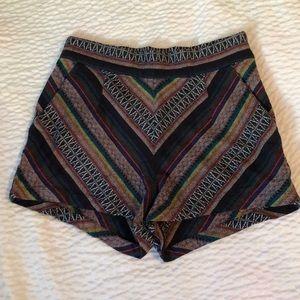 Ecoté tapestry high waist shorts